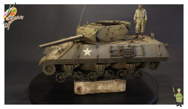 US.M10 Tank destroyer au 1/35 de la marque ACADEMY Mise en place équipements Img_1014