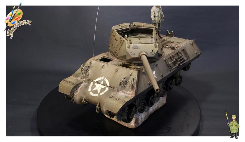 US.M10 Tank destroyer au 1/35 de la marque ACADEMY Mise en place équipements Img_1015