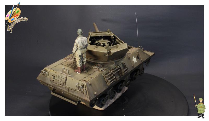 US.M10 Tank destroyer au 1/35 de la marque ACADEMY Mise en place équipements Img_1016