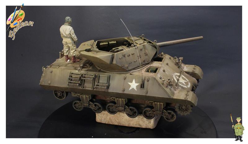 US.M10 Tank destroyer au 1/35 de la marque ACADEMY Mise en place équipements Img_1017