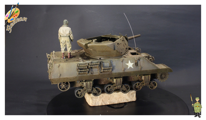 US.M10 Tank destroyer au 1/35 de la marque ACADEMY Mise en place équipements Img_1018