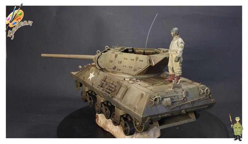 US.M10 Tank destroyer au 1/35 de la marque ACADEMY Mise en place équipements Img_1020