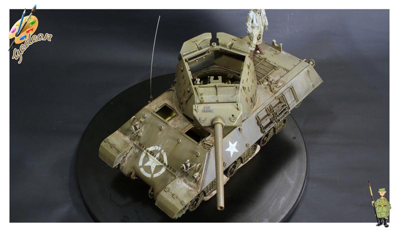 US.M10 Tank destroyer au 1/35 de la marque ACADEMY Mise en place équipements Img_1021