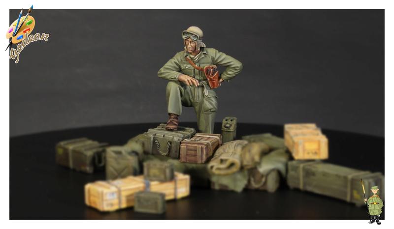 U.S. Tank crew en resine 1/35ème (marque WARRIORS et ROYAL  MODEL)   Img_1118