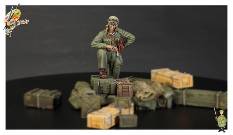 U.S. Tank crew en resine 1/35ème (marque WARRIORS et ROYAL  MODEL)   Img_1120