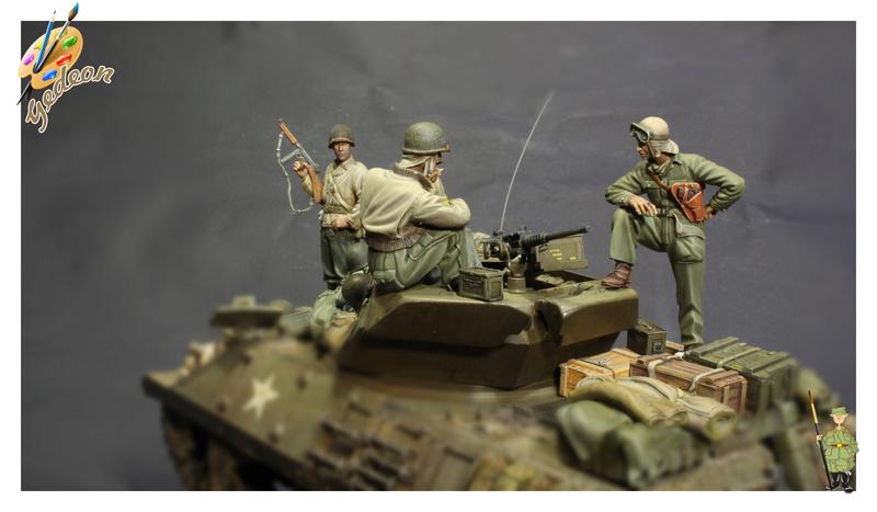 U.S. Tank crew en resine 1/35ème (marque WARRIORS et ROYAL  MODEL)   Img_1211