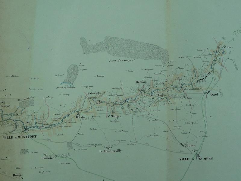 Montauban de Bretagne : Projet de tracé en 1854 420pro10