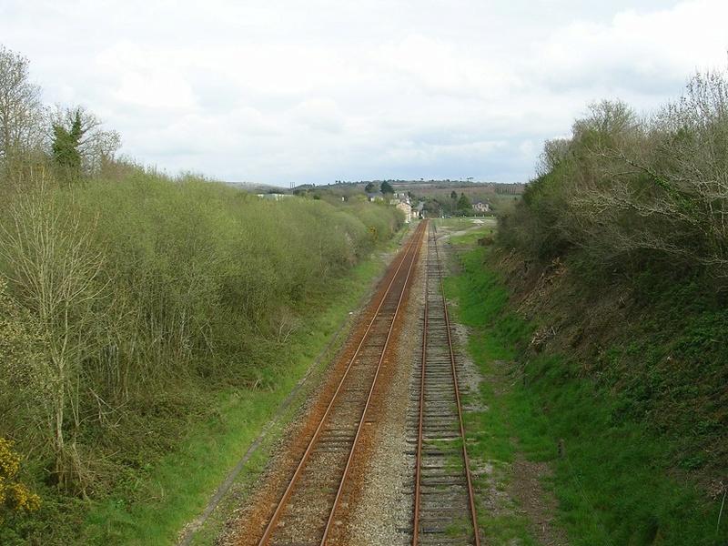 Hanvec passage de l'unique TER Brest Quimper samedi 7 avril Hanvec10