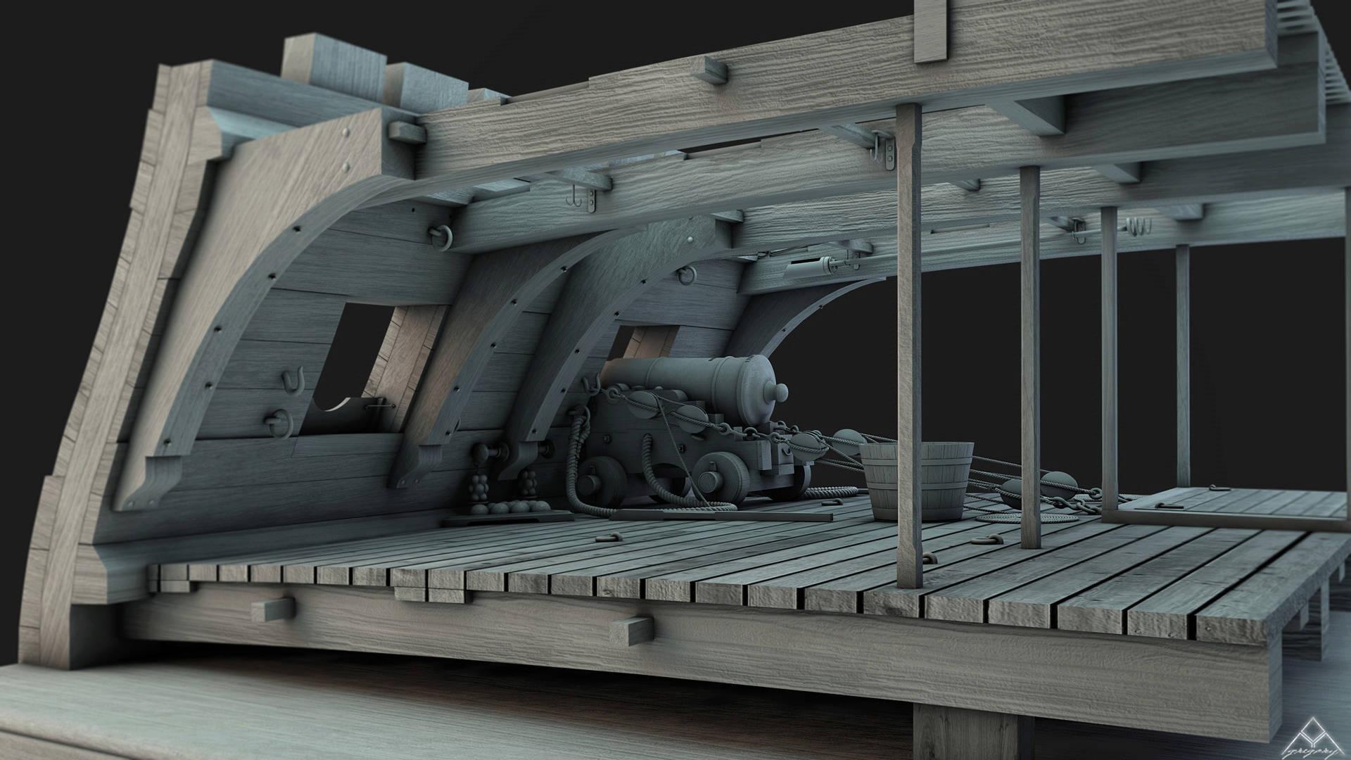 Canons pour le vaisseau de 74 canons - Page 4 Coupe_11