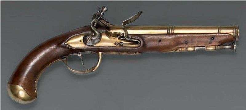Pistolets à canon bronze Laiton11