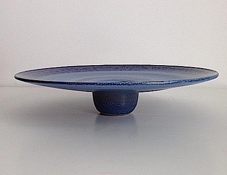 Large blue glazed plate. Img_5914