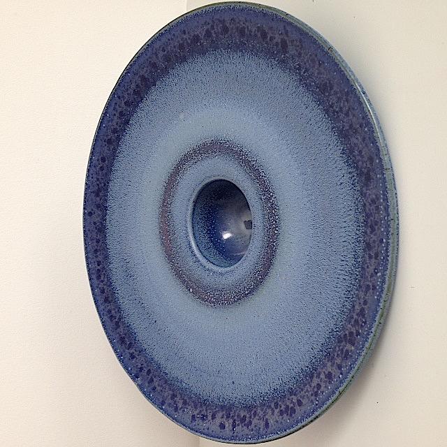 Large blue glazed plate. Img_5915
