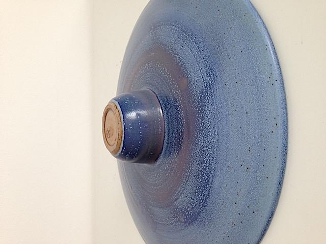 Large blue glazed plate. Img_5916