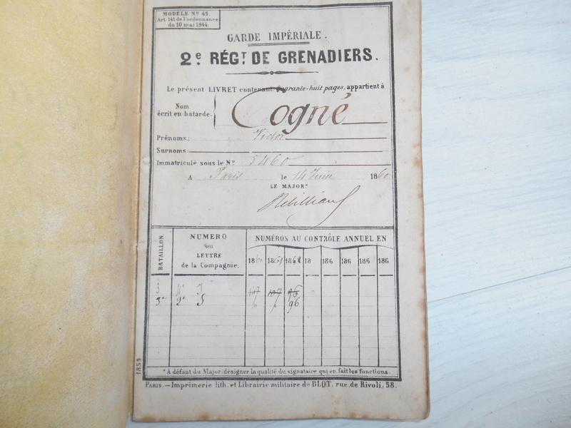 livret d'un Grenadier de la garde impériale ESC - JUIL4 VENDU Dscn4318