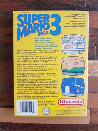 NES faux blister souple Super Mario Bros Qsfqsf12