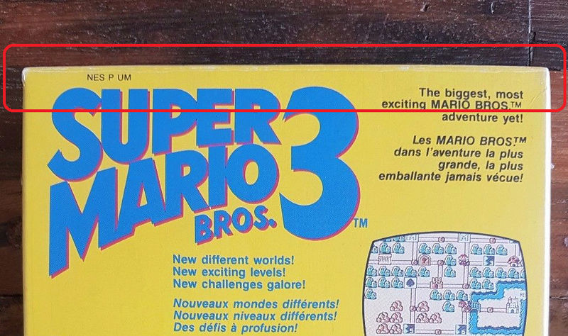NES faux blister souple Super Mario Bros Qzoome10