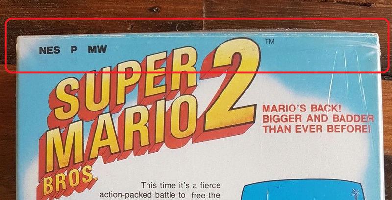 NES faux blister souple Super Mario Bros Sbklkt10
