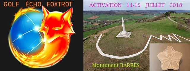 Activation Golf Echo Foxtrot - Monument Barrès (dpt.54) (14 & 15 Juillet 2018) 1yre_a10