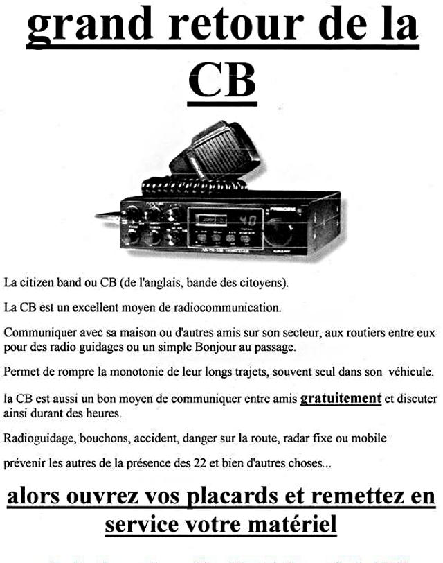 Grand retour de la CB (groupe facebook: contre la repression et les 80 Km/h) 31059610