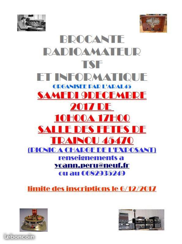 Brocante - Brocante Radioamateur/TSF & informatique à Trainou (45) (09/12/2017) 85958610
