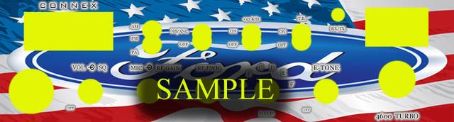 Plaque tuning de façade de postes mobile Americ13