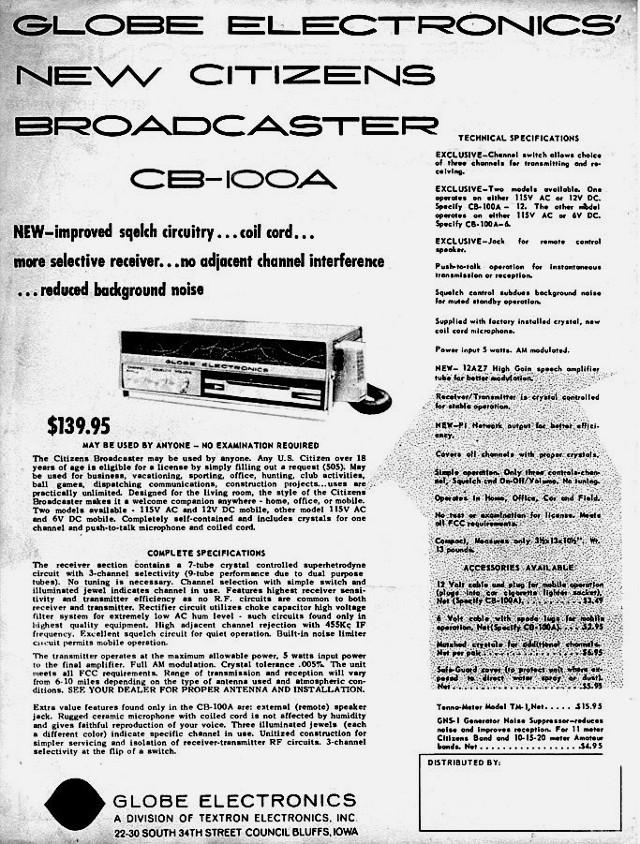 Globe Electronics Broadcaster CB-100A (Mobile/Base) Globe_11