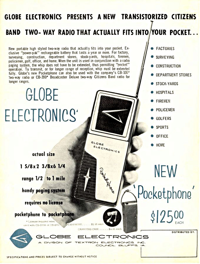 Globe Electronics Pocketphone (Portable) Globe_16