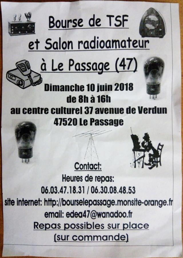 Bourse de TSF et Salon Radioamateur à La Passage (47) (10 Juin 2018) Img_2071