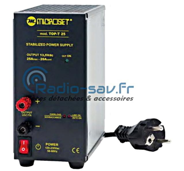 alimentation - Microset Top-T 25 (Alimentation stabilisée, silencieuse) Micros10