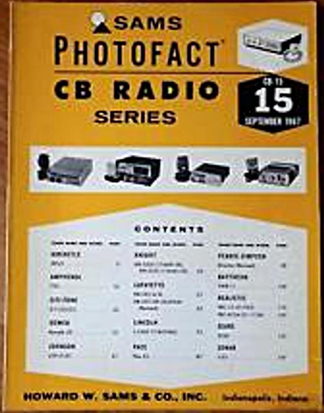 Photofact CB Radio Series (Magazine (USA) S-l22515