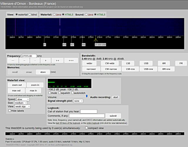 WebSDR 11m + bande déca. (SWL) - Page 2 Websdr10