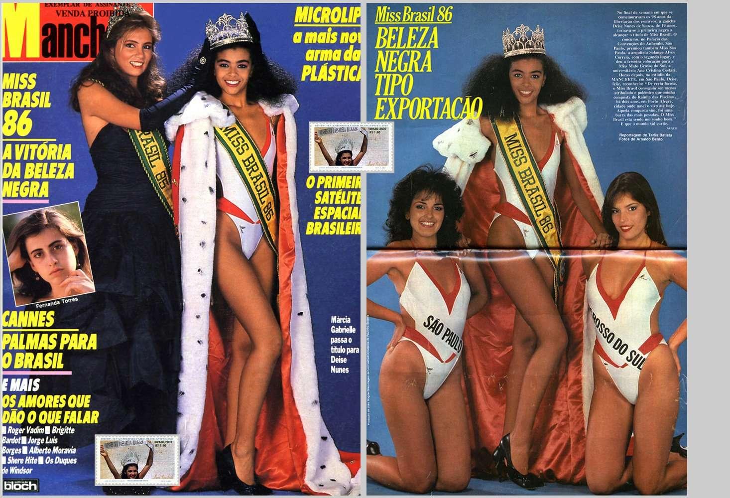 deise nunes, semifinalista de miss universe 1986. 1511
