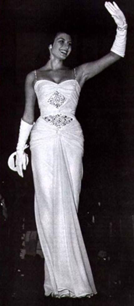 gladys zender, miss universe 1957. primera latina a vencer este concurso. 90fd8c10