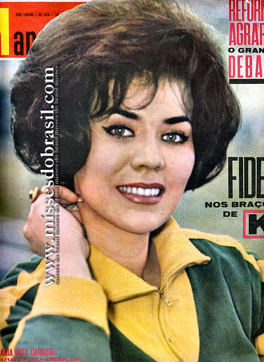 maria jose cardoso, semifinalista de miss universe 1956. Br56hy10