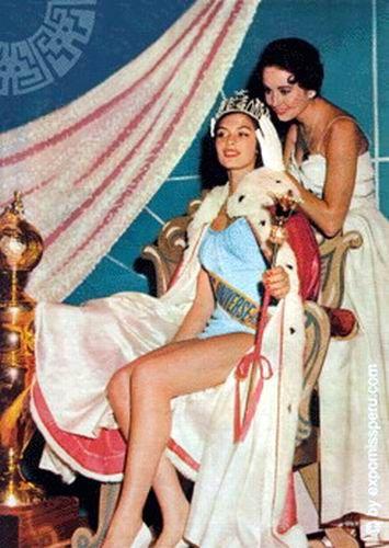 gladys zender, miss universe 1957. primera latina a vencer este concurso. Efd44c10