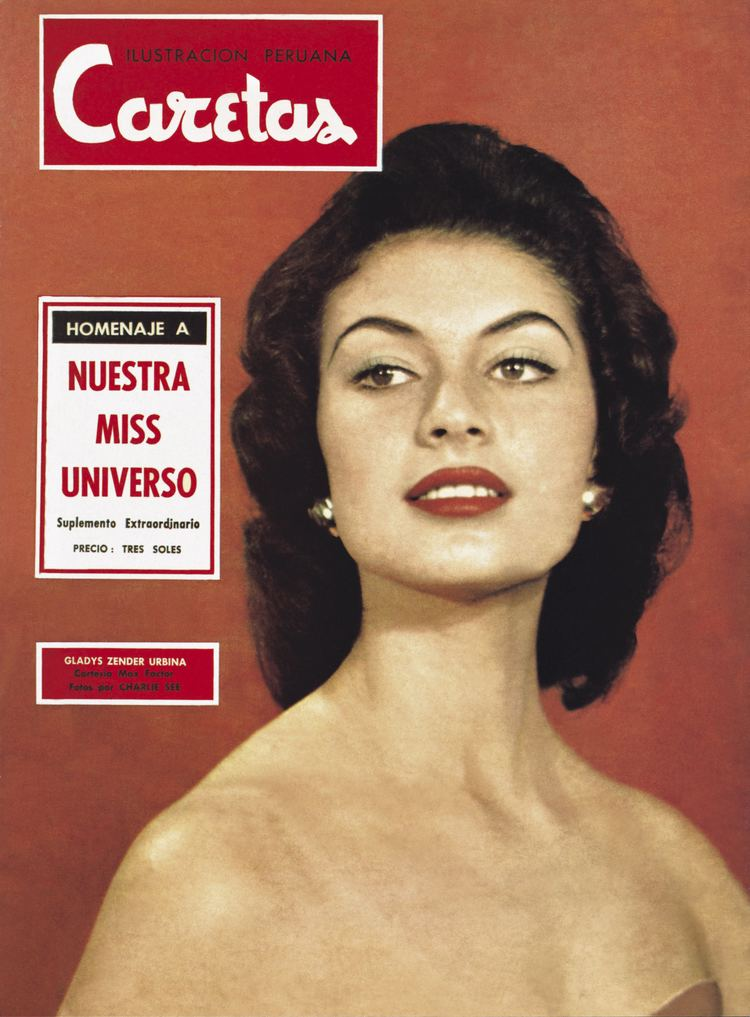 gladys zender, miss universe 1957. primera latina a vencer este concurso. Gladys11