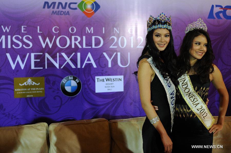 wenxia yu, miss world 2012.  W0201311