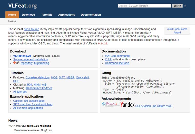 Những trang web hữu ích  Vlfeat10