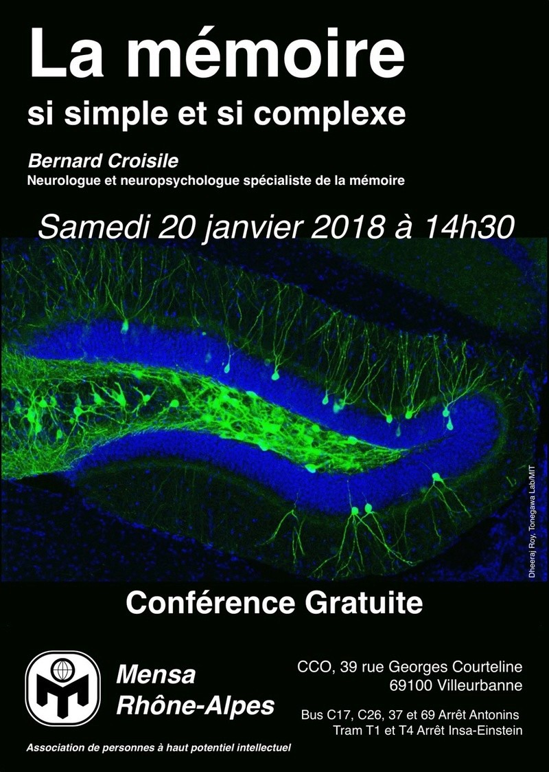 [Lyon] Conférence publique sur la Mémoire - Samedi 20 janvier  Illust10
