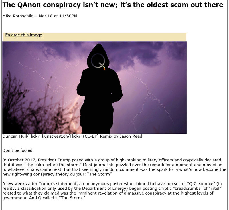 The QAnon conspiracy isn't new; it's the oldest scam out there Screen55