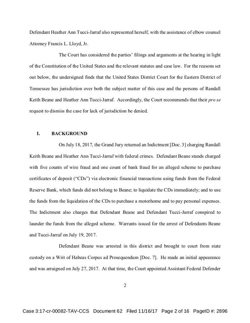 11/16/17 Heather/Randy Jurisdiction - Judge Shirley's Report & Conclusion Shirle11
