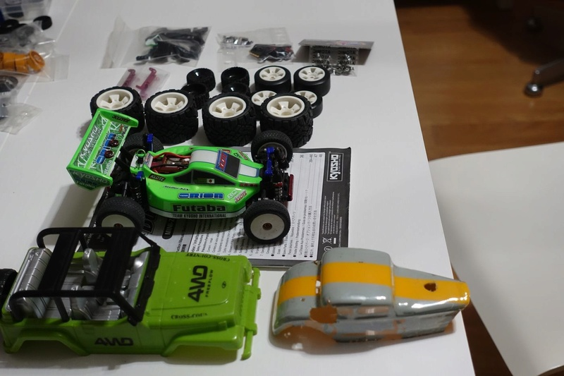 Lot de Pièces Buggy : roues monster, drift, piste, carrosseries, etc ... 40€ Dsc01256