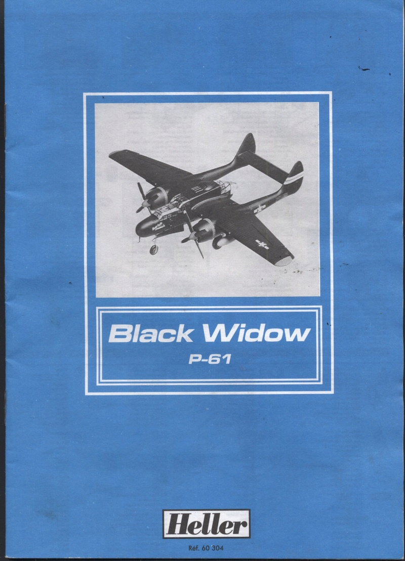 NORTHROP P61 BLACK WIDOW 1/72ème Réf 60304 Notice Maque459
