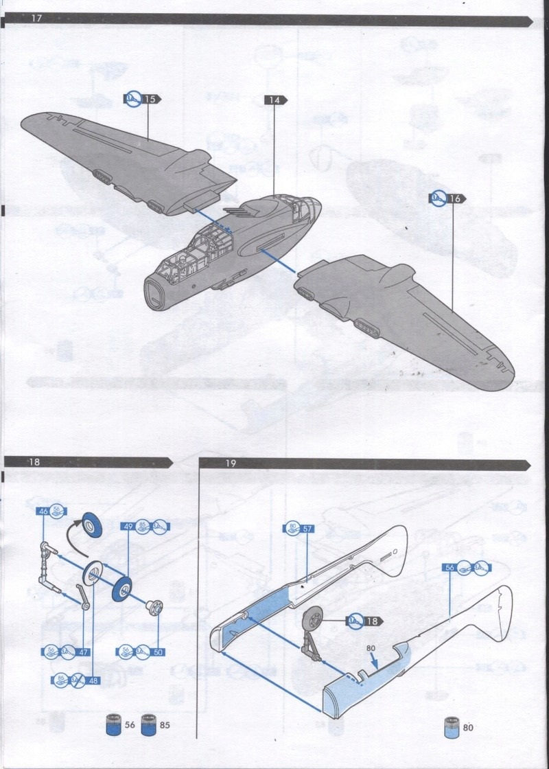NORTHROP P61 BLACK WIDOW 1/72ème Réf 60304 Notice Maque462