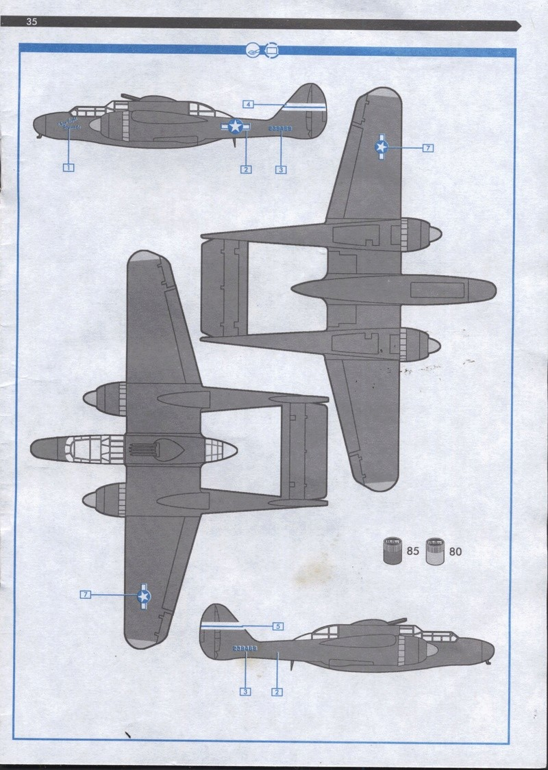 NORTHROP P61 BLACK WIDOW - 1/72 - REF : 60304 - NOTICE Maque469