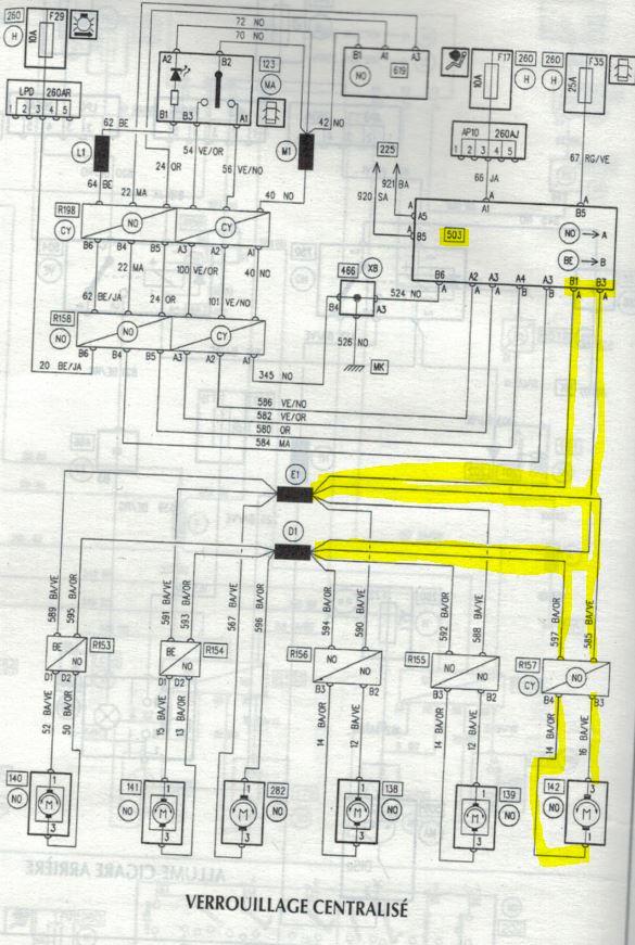 Fermeture centralisé le coffre ne s'ouvre plus l'impulsion est trop faible 503_ca10
