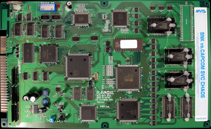 Ces jeux NEO-GEO édités en PCB jamma tierce Svcpcb10