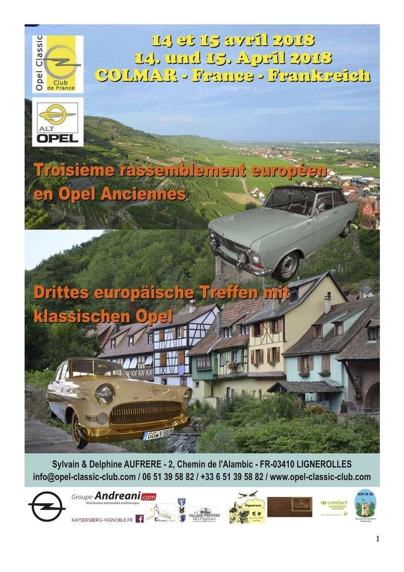 Rassemblement Opel anciennes à COLMAR les 14 et 15 avril 2018. Opelco12