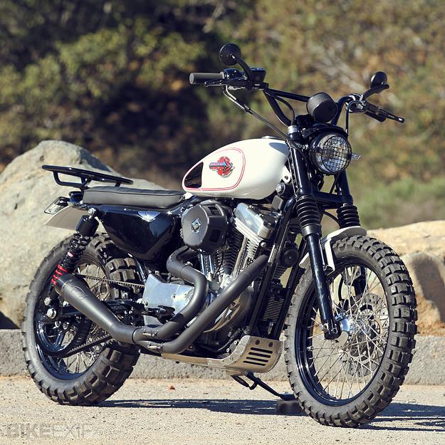 Faire un scrambler avec une XL1200C - Page 2 Harley12