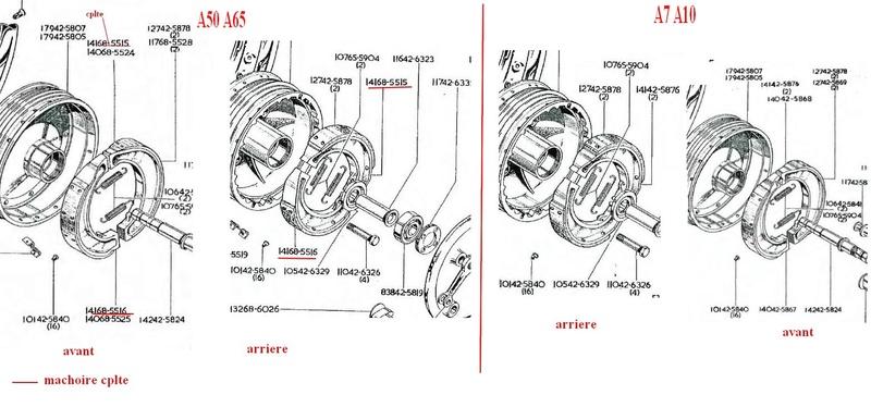 Machoires de frein A65 1962 ? Captur21